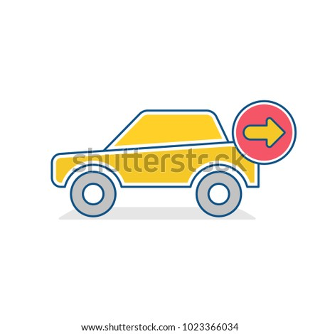 Auto icon. Car next sign. Traffic transport vehicle icon. Vector illustration