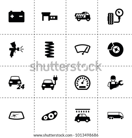 auto icons vector collection