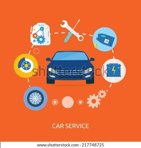 Vehicle Maintenance Icon Icons of Maintenance Car
