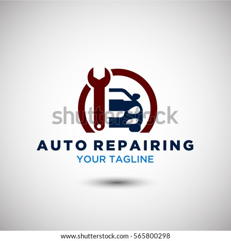 Auto Repairing Logo Vector. Automotive and Transportation Logo template