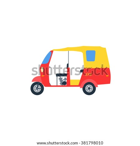 auto rickshaw illlustration