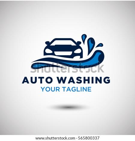 auto washing logo vector