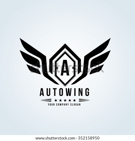auto wing automotive logo...