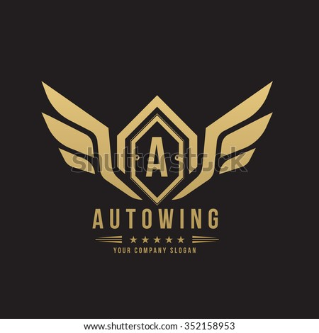Auto wing,Automotive logo,Crests logo,Vector logo template