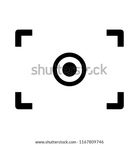 Autofocus icon - digital photo camera illustration, vector image concept