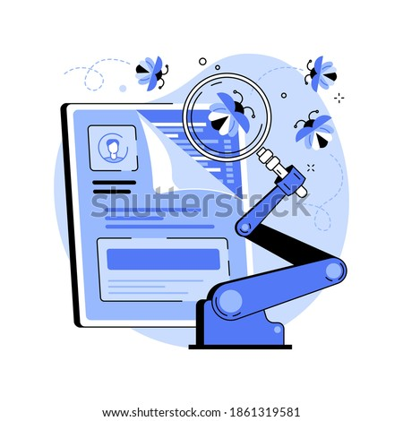 Automated testing abstract concept vector illustration. Automotive executed test, app development tester, automated software testing, usability analysis tool, UI optimization abstract metaphor. Сток-фото ©