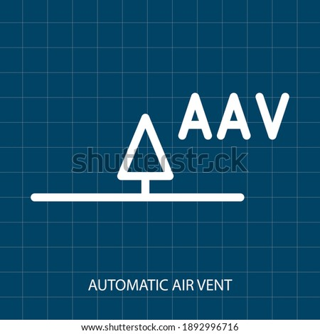 AUTOMATIC AIR VENT VECTOR SYMBOL OF PUMPING SYSTEM MECHANICAL SYSTEM stock photo