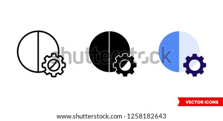 automatic contrast icon of 3