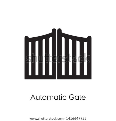 automatic gate vector icon. automatic gate silhouette symbol. Linear style sign for mobile concept and web design. Garage symbol logo illustration. vector graphics - Vector.
