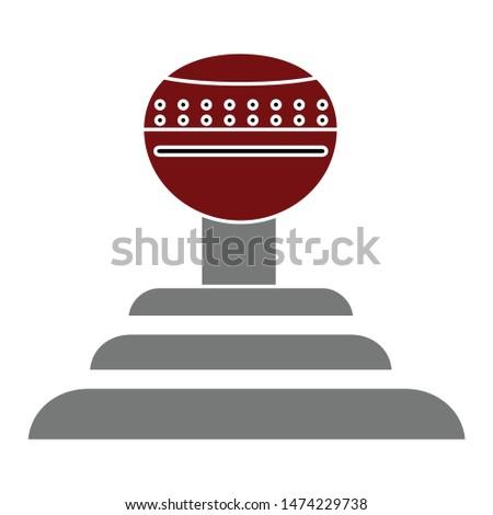 automatic gearshift icon. flat illustration of automatic gearshift vector icon. automatic gearshift sign symbol Stock photo ©