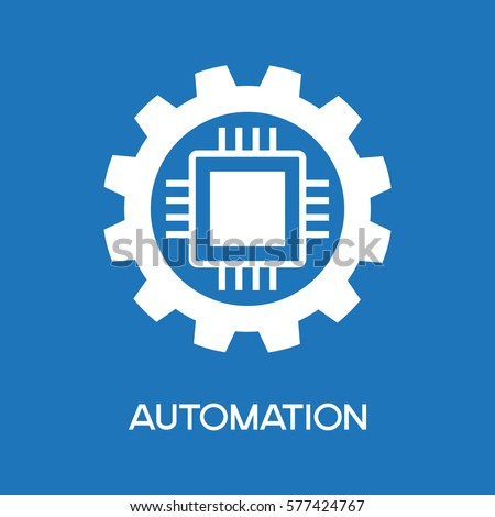 automatic process icon. gear...