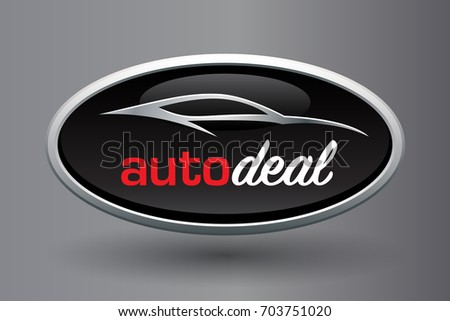 automobile dealer concept logo