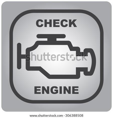 automobile icon check engine