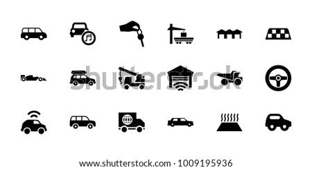 automobile icons set of 18