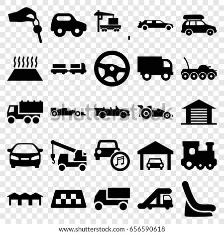 automobile icons set set of 25