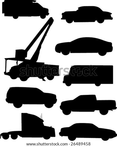Automobile silhouettes.