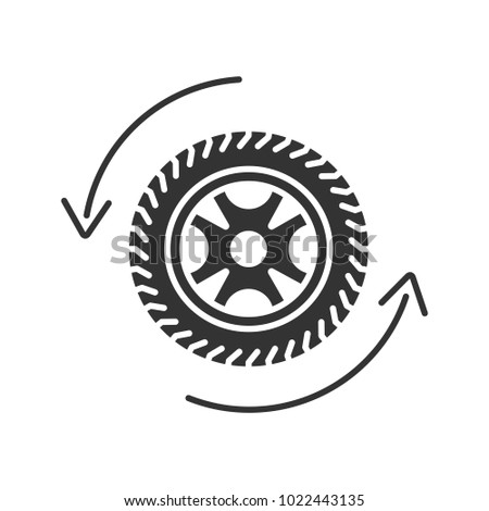 stock-vector-automobile-wheel-changing-glyph-icon-car-rim-and-tire-with-circle-arrow-silhouette-symbol
