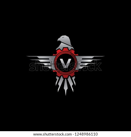 Automotive Eagle Gear V Letter Logo