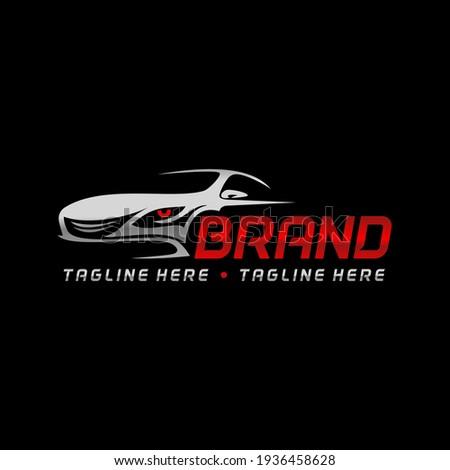 automotive sport car racing logo tamplate