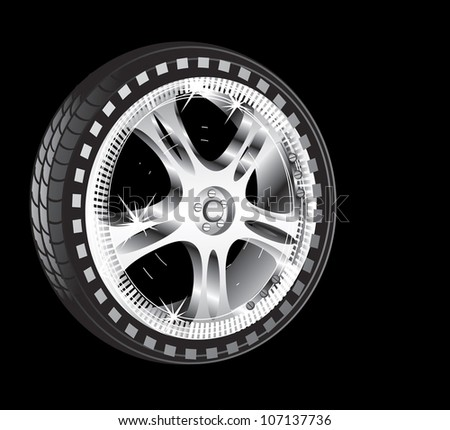 automotive wheel with alloy wheel and low profile tire