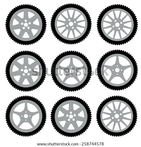 automotive wheel with alloy