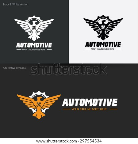 Automotive Wing Eagle Logo Template