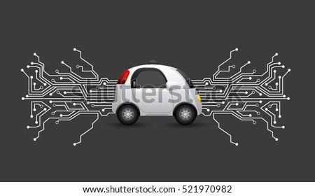 autonomous car vehicle with