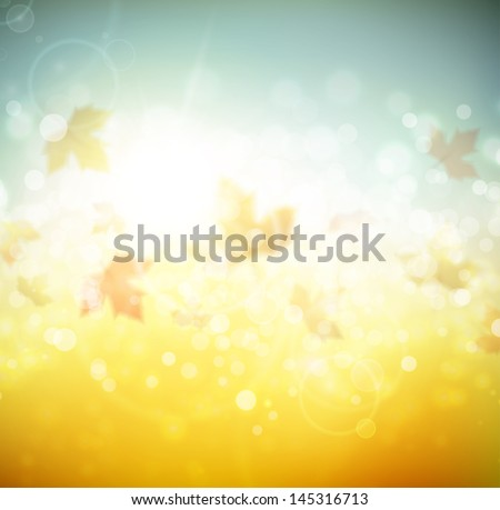 autumn abstract background eps