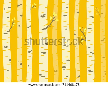autumn aspen grove  seamless