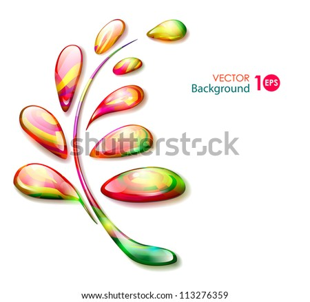 Autumn background. Abstract leaf. Vector eps 10.