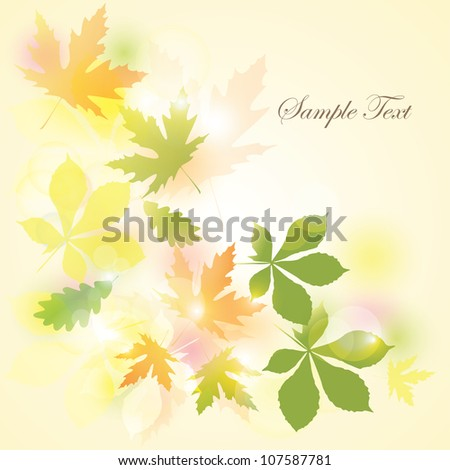 Autumn Background.Falling Leaves.