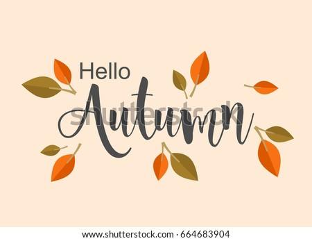 Autumn background illustration design vector