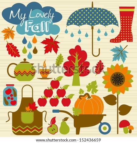 autumn background set design