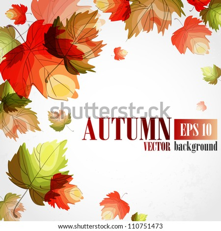 Autumn background. Vector illustration. Eps 10.
