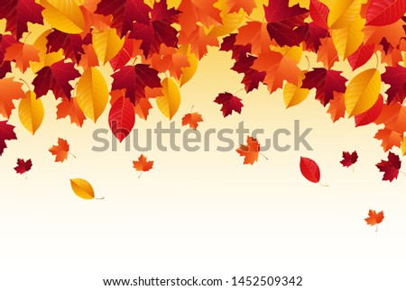 Autumn background with falling autumn leaves