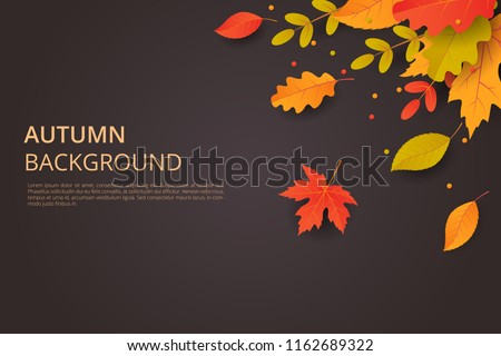 stock-vector-autumn-background-with-leaves-can-be-used-for-poster-banner-flyer-invitation-website-or