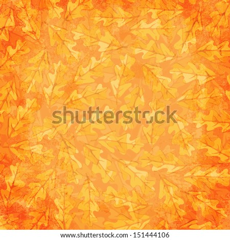 Autumn Background with oak leaves.