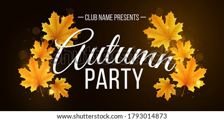 autumn banner of yellow maple