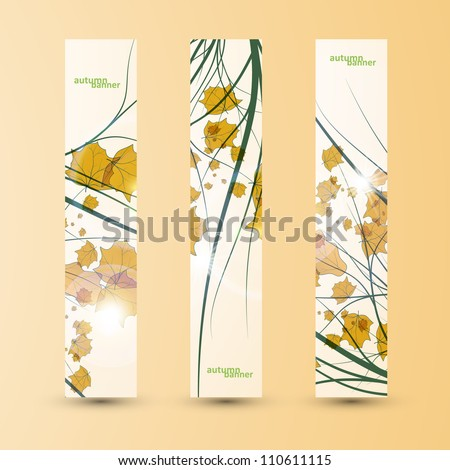 Autumn banner set, vector illustration eps10