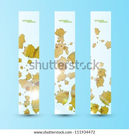 Autumn banner set, vector illustration eps10