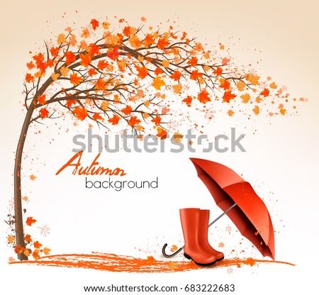 autumn banners with trees and