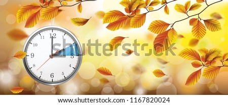 Autumn beech foliage with sunlights and bokeh. Eps 10 vector file.