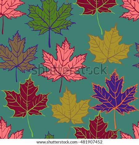 autumn cartoon leaf pattern