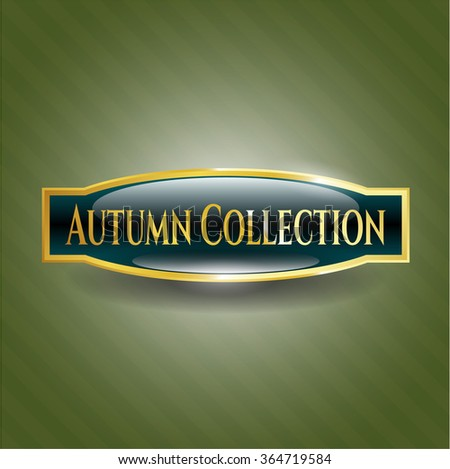 Autumn Collection gold emblem or badge