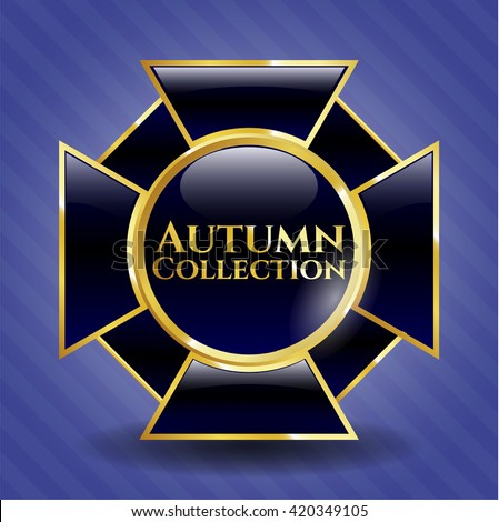 Autumn Collection gold shiny emblem