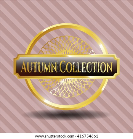 Autumn Collection golden badge or emblem
