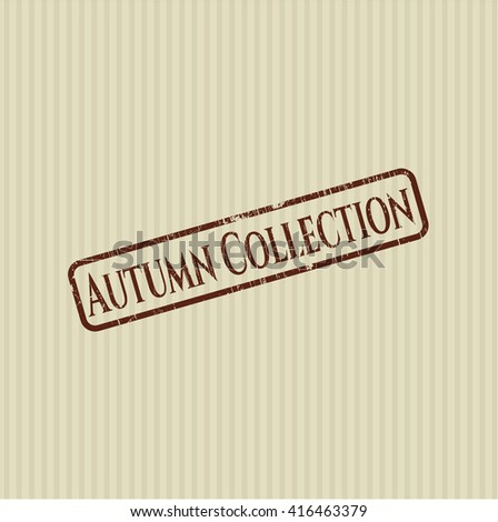 Autumn Collection grunge seal