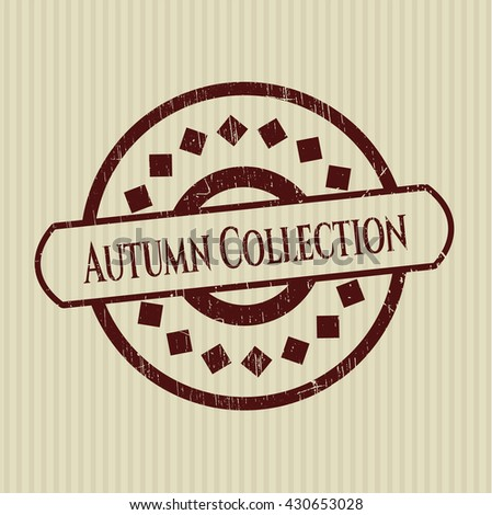 Autumn Collection grunge stamp