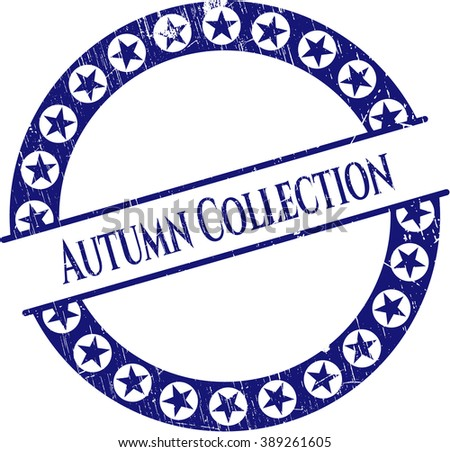 Autumn Collection grunge style stamp