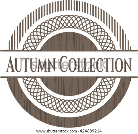Autumn Collection retro style wood emblem